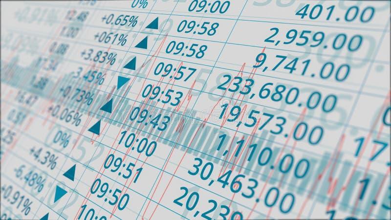 Данные по фондовой биржи иллюстрация вектора