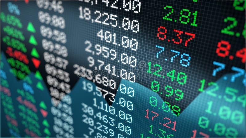Данные по фондовой биржи иллюстрация штока