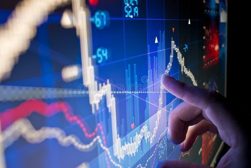 Данные по фондовой биржи стоковые фото