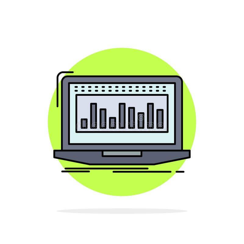 Данные, финансовые, индекс, контроль, вектор значка цвета запаса плоский бесплатная иллюстрация