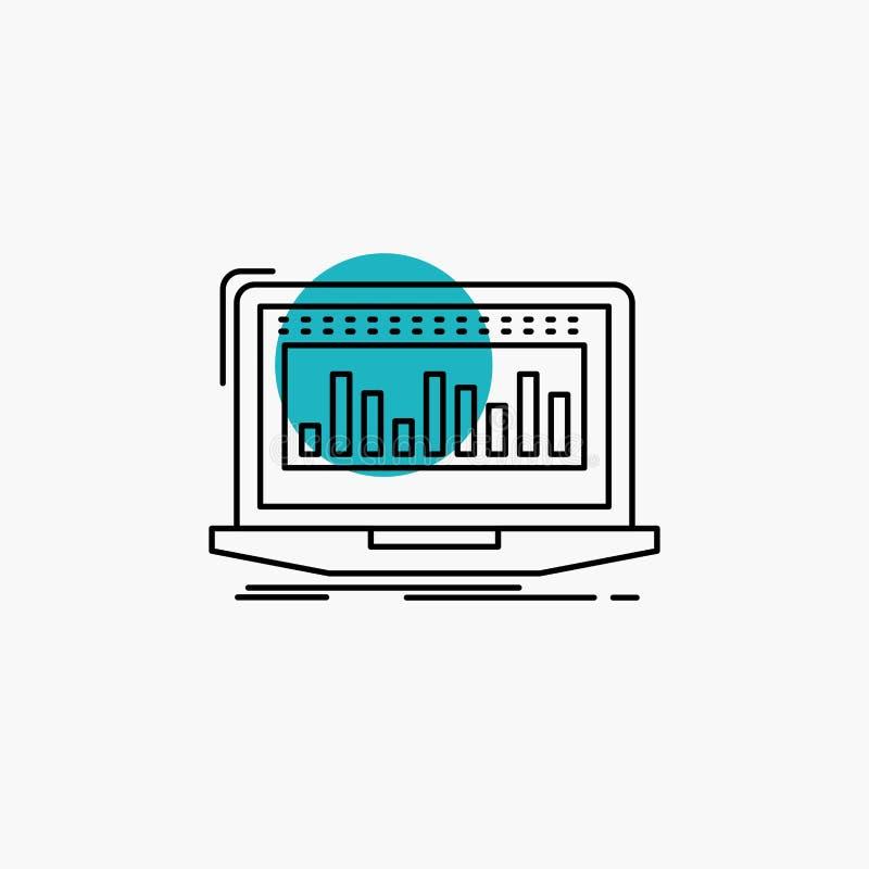 Данные, финансовые, индекс, контроль, значок ассортимента запасов иллюстрация штока