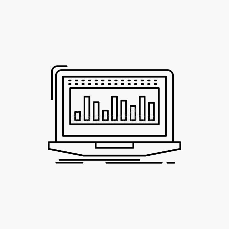 Данные, финансовые, индекс, контроль, значок ассортимента запасов r иллюстрация вектора