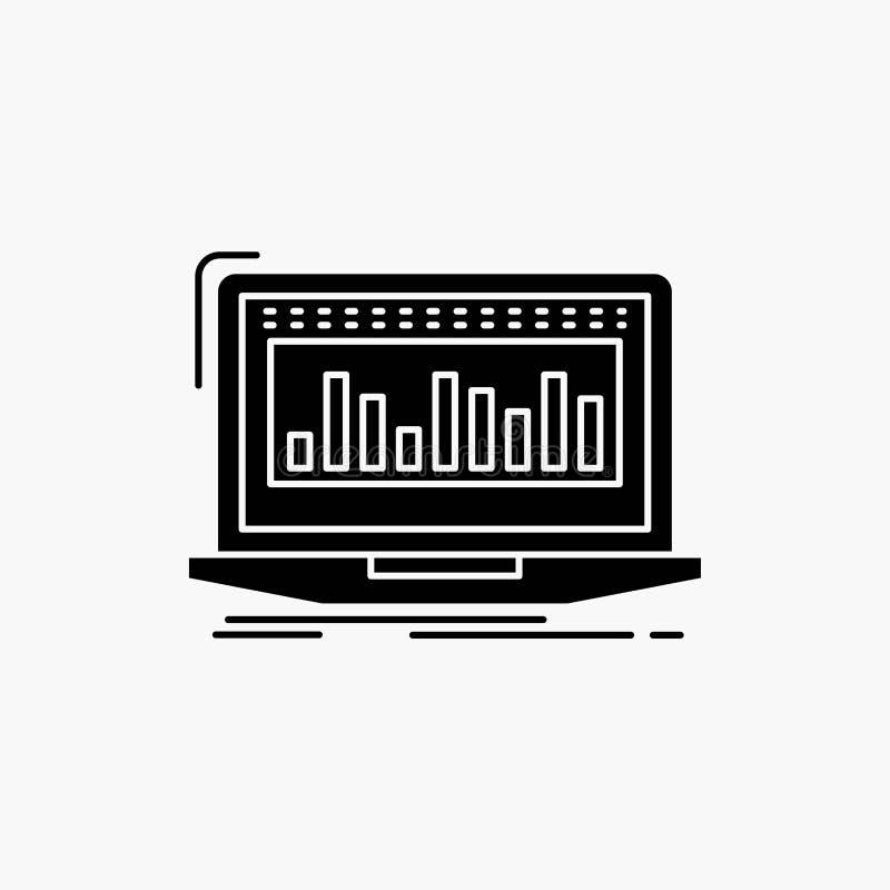Данные, финансовые, индекс, контроль, значок глифа запаса r бесплатная иллюстрация