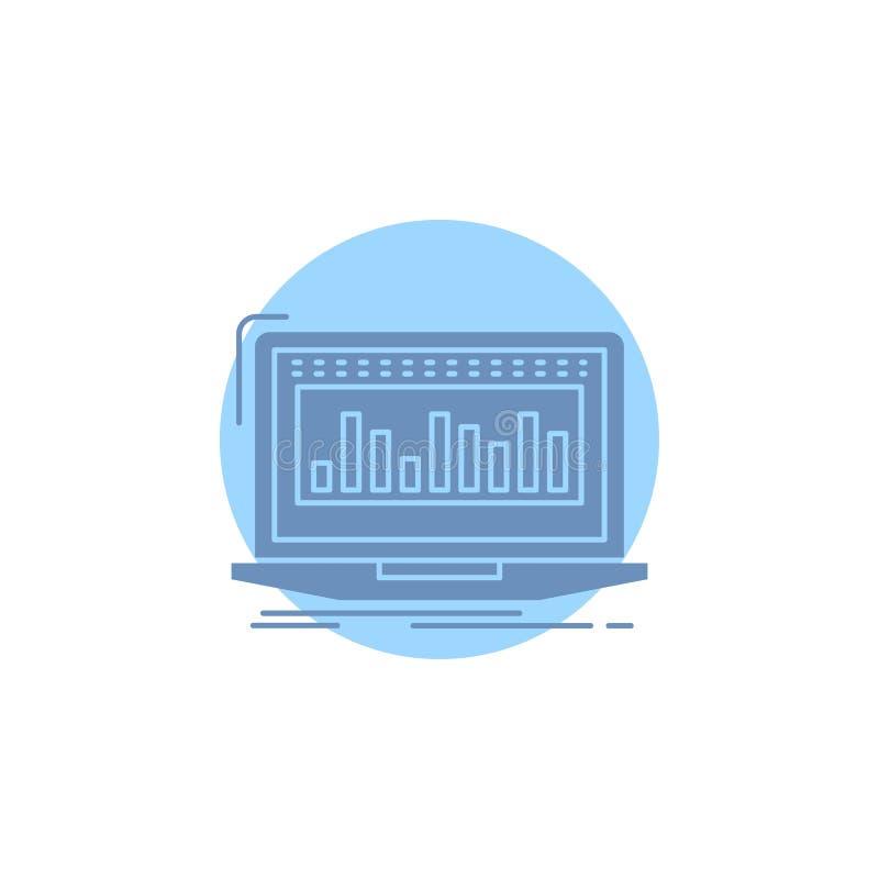 Данные, финансовые, индекс, контроль, значок глифа запаса бесплатная иллюстрация