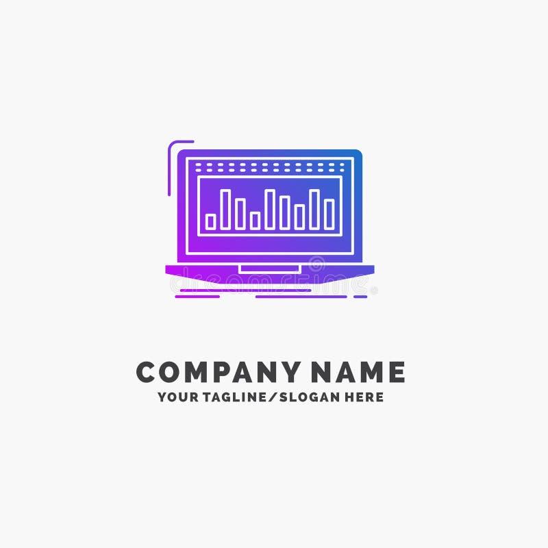 Данные, финансовые, индекс, контроль, шаблон логотипа дела запаса пурпурный r бесплатная иллюстрация
