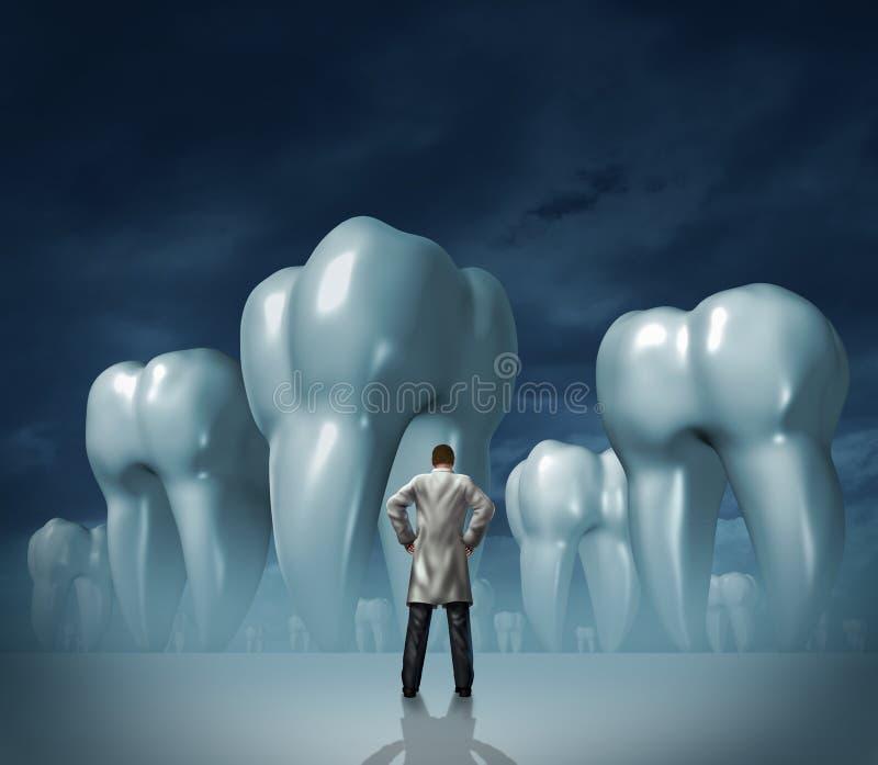 Дантист и зубоврачебная внимательность иллюстрация штока