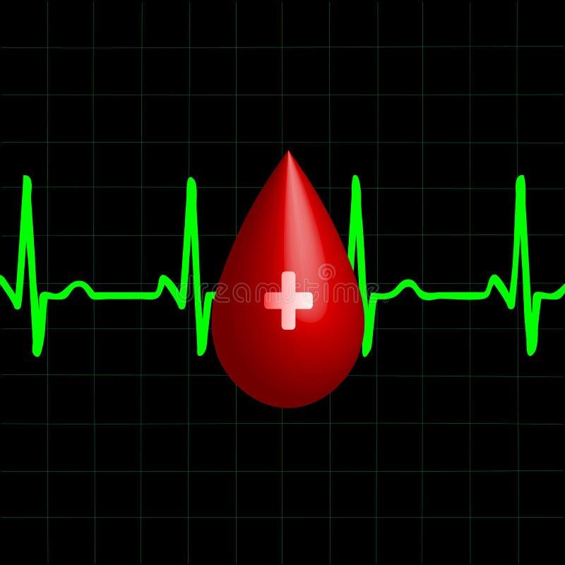даритель крови иллюстрация вектора