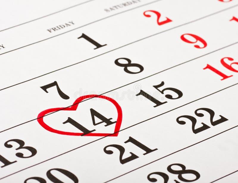 Дата дня Валентайн 14-ое февраля стоковые фото