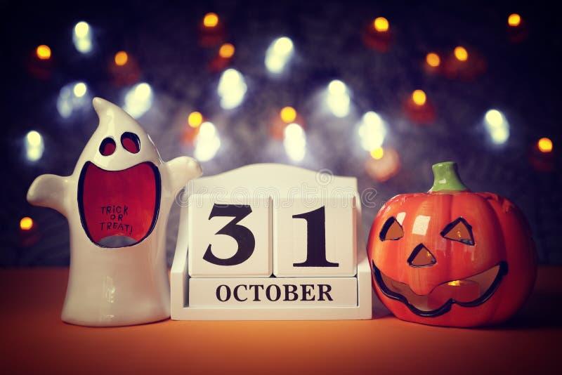 Дата календаря хеллоуина стоковое фото rf