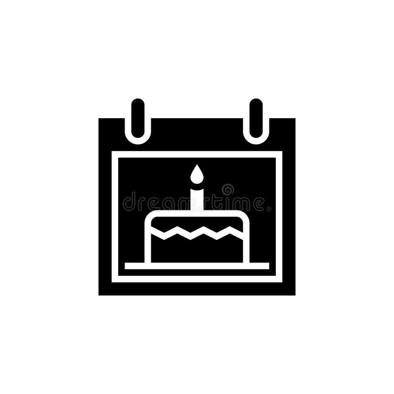 Дата рождения иконка векторная иллюстрация изолирована бесплатная иллюстрация