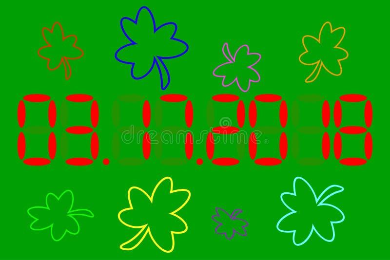 дата StPatrick \ 'день s Зеленая предпосылка вектор иллюстрация штока