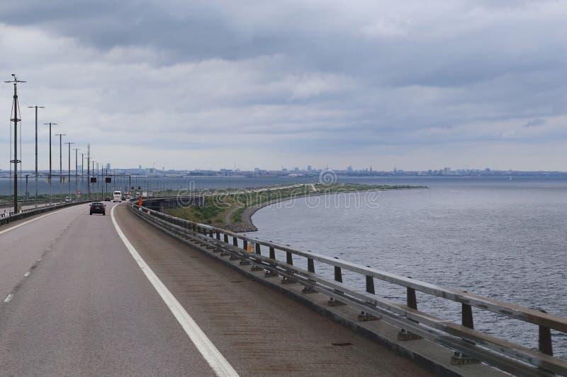 Датская граница в скрещивании Oresund стоковое фото rf