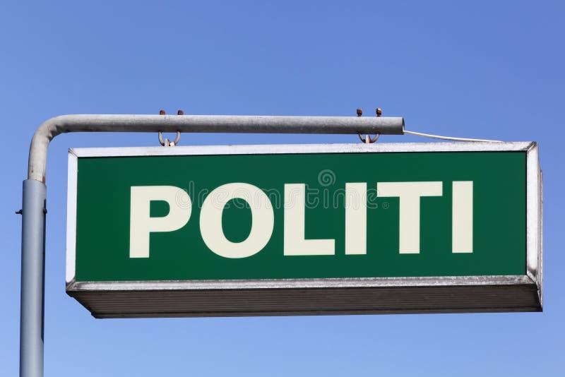 Датская полиция подписывает стоковое фото rf