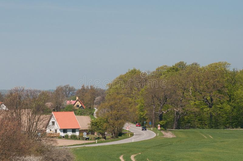 Датский сельский дом около Praestoe стоковое изображение