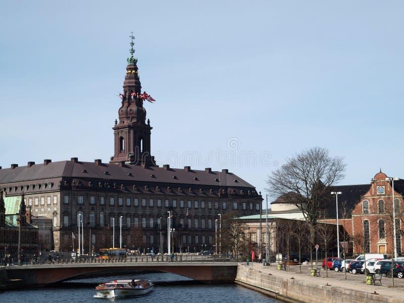 Датское здание парламента стоковое фото rf