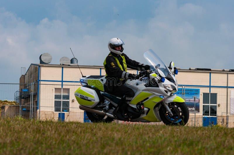 Датское полицейский мотоцикла стоковые фото