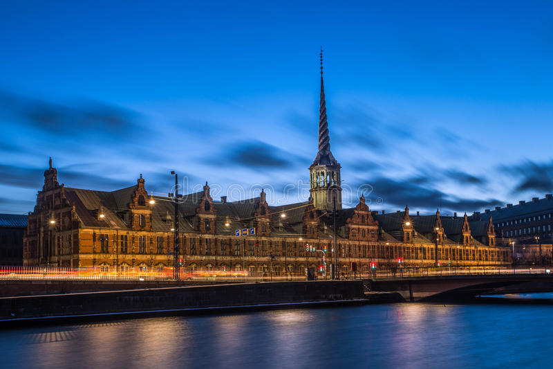 Датское старое здание парламента стоковая фотография rf