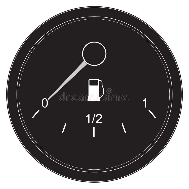 Датчик бензобака Значок матовой черноты бесплатная иллюстрация