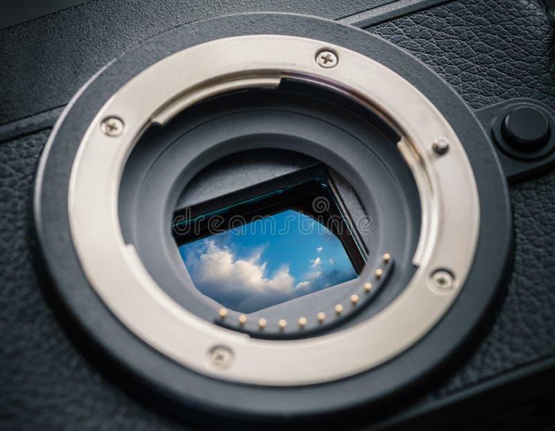 Датчик камеры с облаками стоковое фото rf