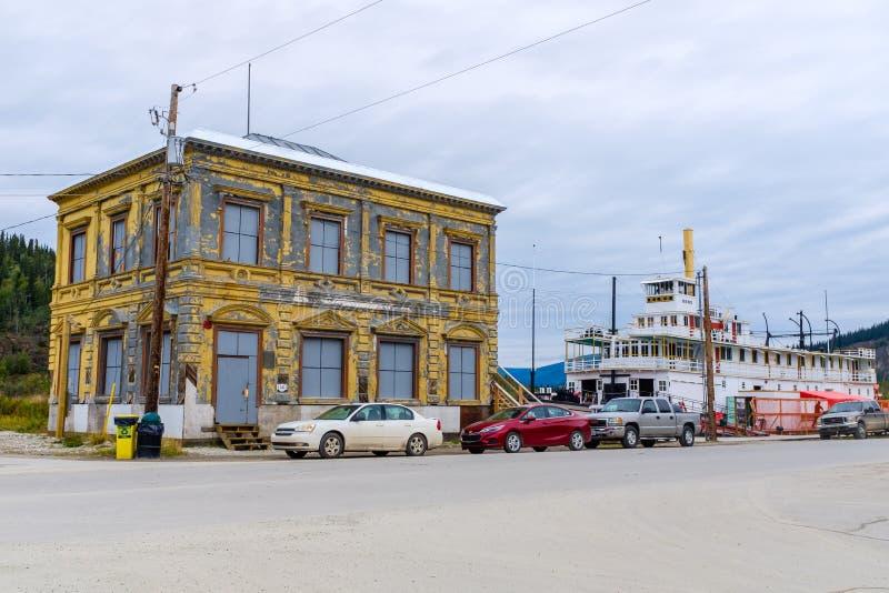 Даусон-сити в центре Юкона стоковая фотография rf