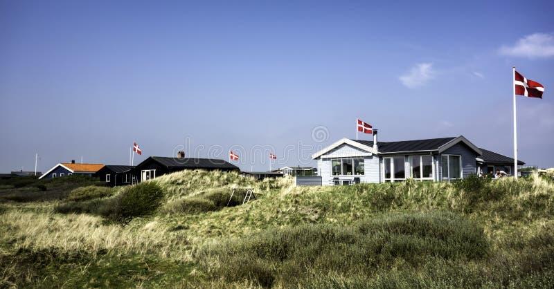 Дачи на острове Fano в датском море wadden стоковые фото