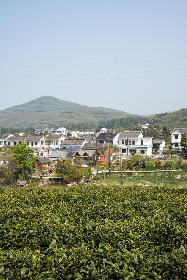 Далеко см. деревню Huanglongxian стоковые изображения rf