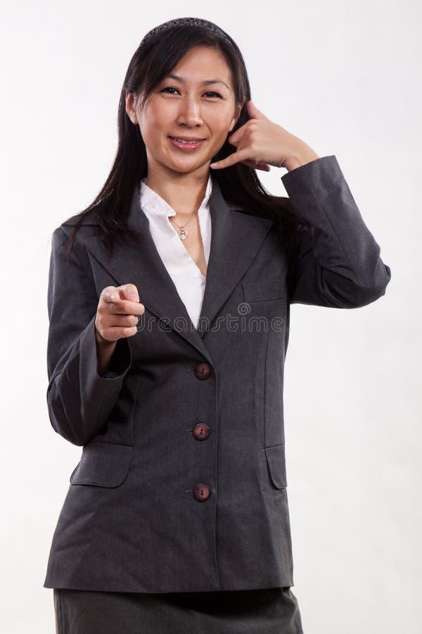 двадчадкы азиатской коммерсантки милые стоковые фото