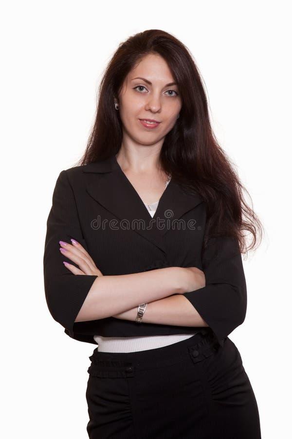 двадчадкы привлекательной коммерсантки кавказские молодые стоковые фото