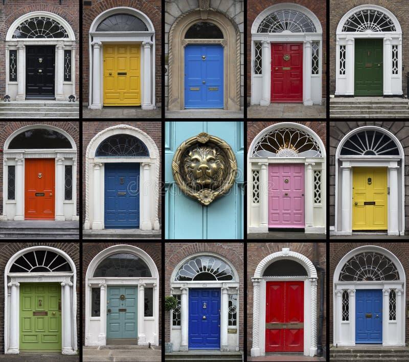 Двери - Дублин - Ирландская Республика стоковые изображения