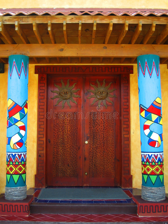 двери мексиканские стоковые фотографии rf