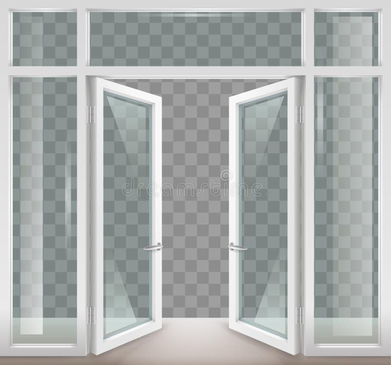 двери раскрывают белизну иллюстрация вектора