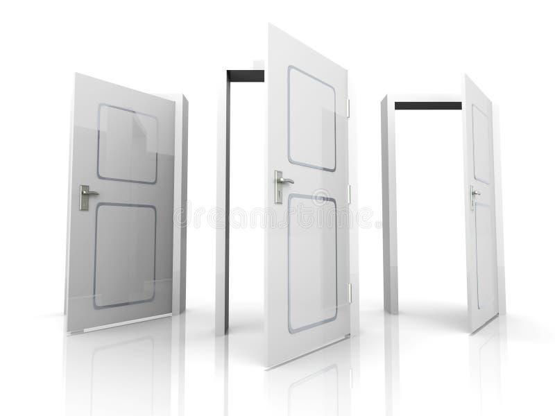 двери раскрывают бесплатная иллюстрация