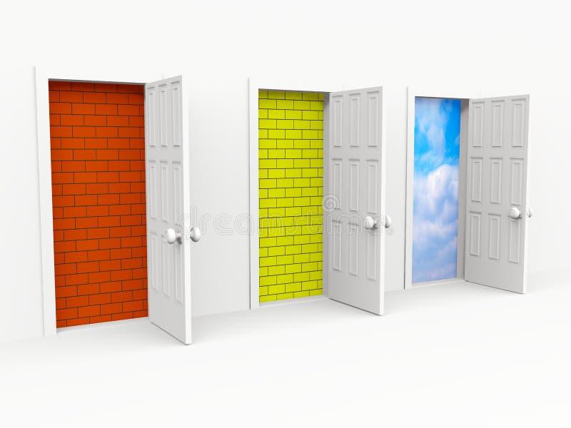 двери иллюстрация вектора