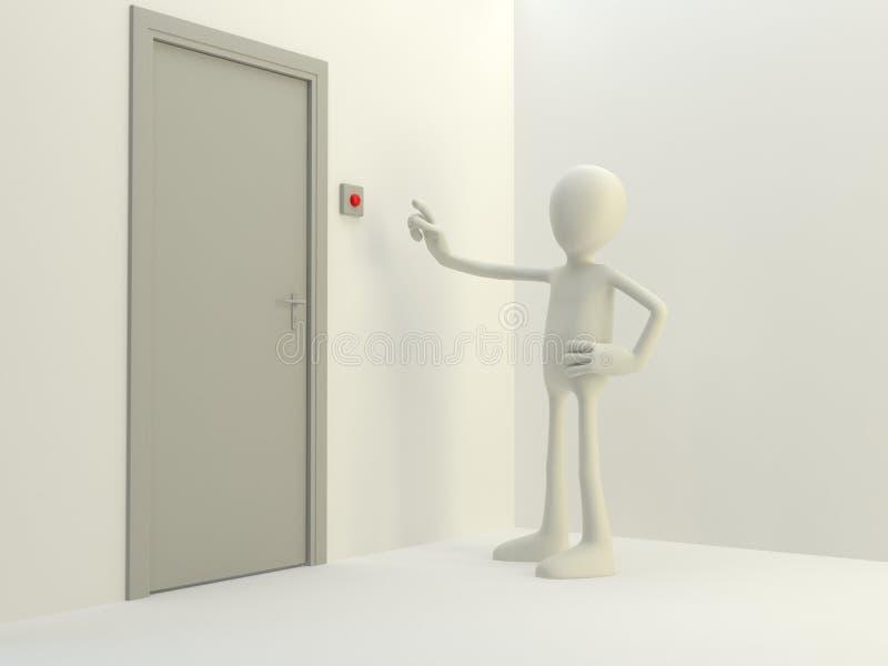 дверной звонок иллюстрация вектора