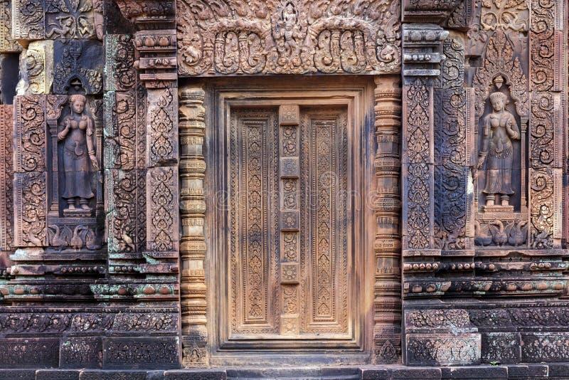 Дверь виска Khmer стоковые фото