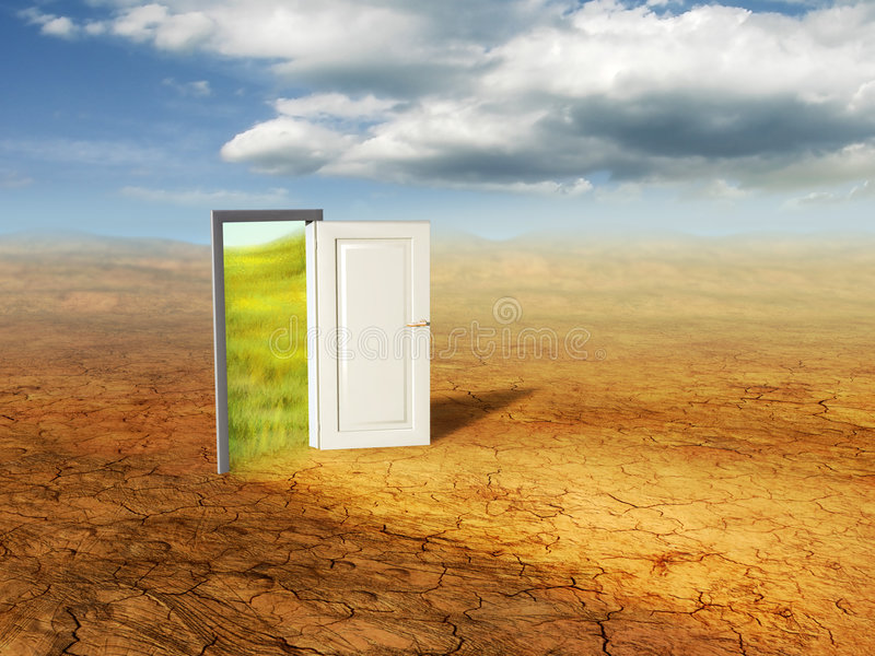 дверь волшебная бесплатная иллюстрация