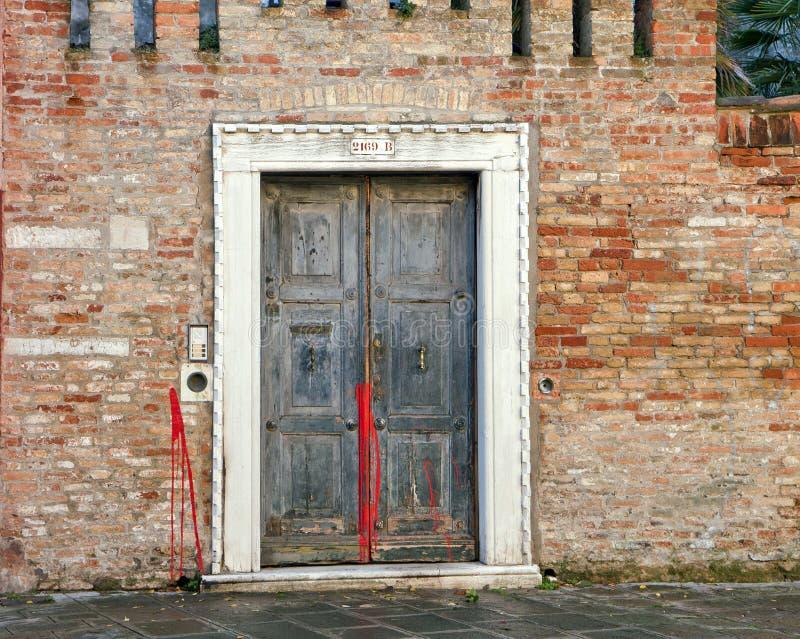 Дверь в Венеции стоковое фото rf