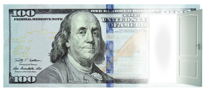 Дверь в долларе стоковые изображения rf