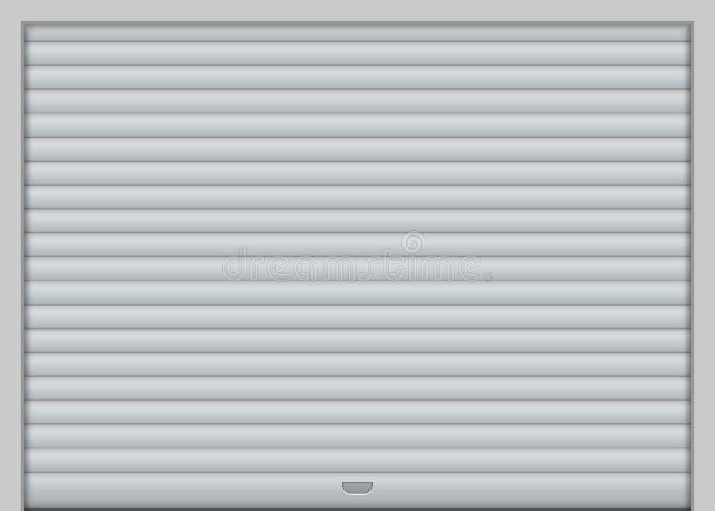 Дверь гаража ролика иллюстрация вектора