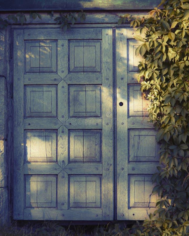 дверь деревянная стоковые изображения rf