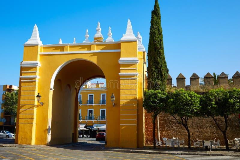 Дверь Испания Севильи Puerta de Ла Macarena Свода стоковое фото