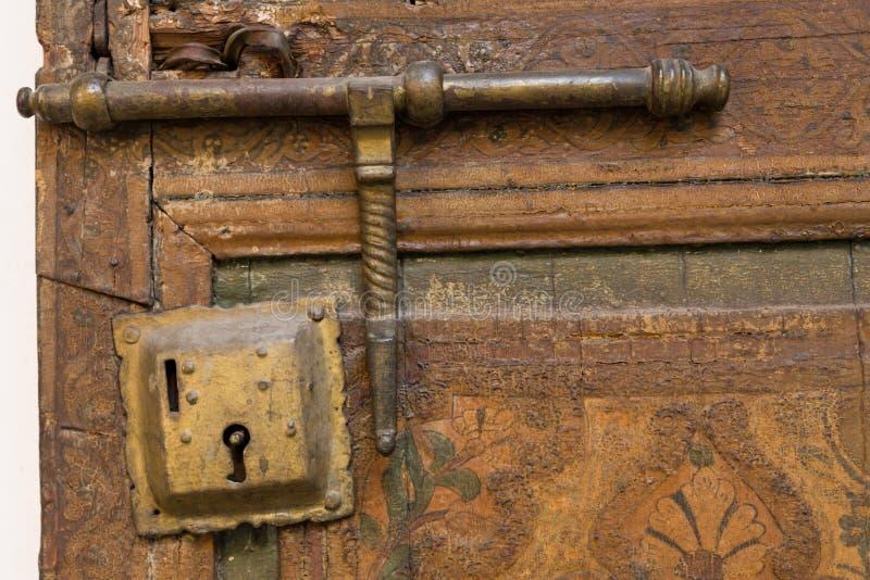 Дверь и замок стоковые фотографии rf