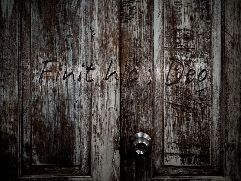 Дверь к аду стоковые изображения rf