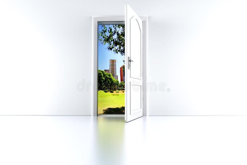 Дверь к городу бесплатная иллюстрация