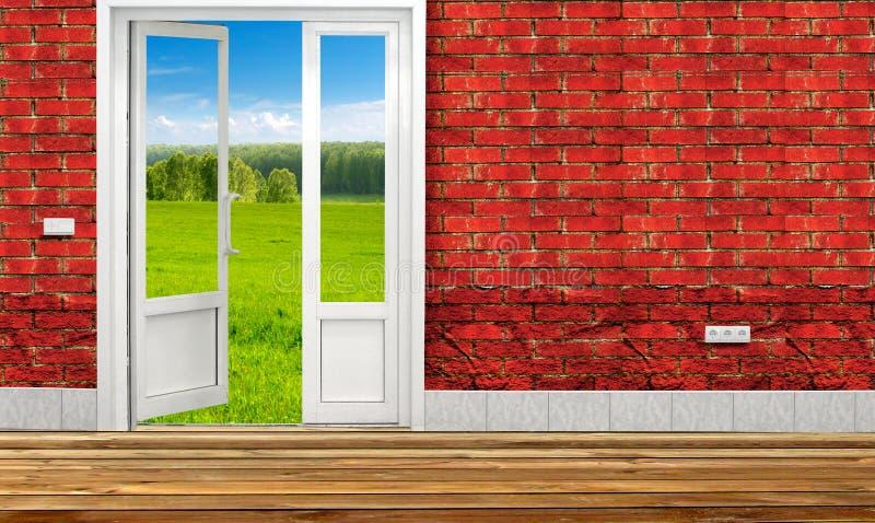 Дверь к концепции природы стоковое фото