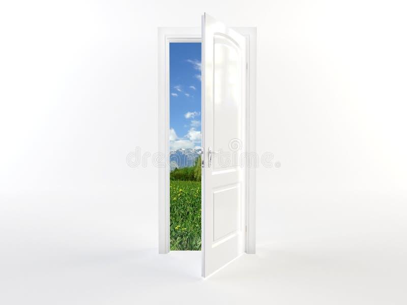 Дверь к фантастическому миру бесплатная иллюстрация