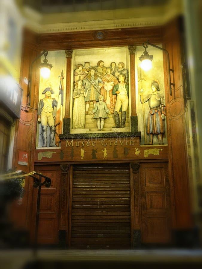 Дверь музея Grévin в Париже Франции марте 2018 стоковое фото