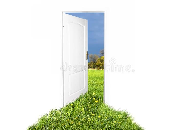 дверь новая к миру стоковое изображение rf