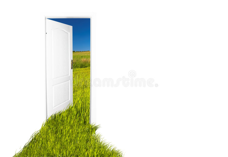 дверь новая к миру иллюстрация вектора