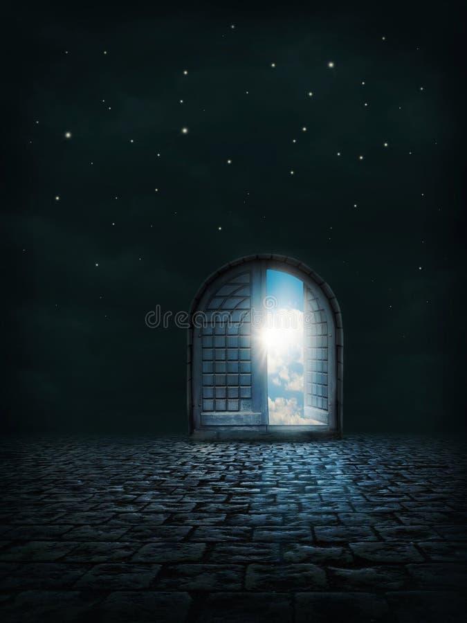 дверь открытая стоковое изображение rf